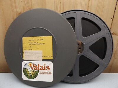 "16mm FILM VALAIS WALLIS RHONE MOUNTAINS SWITZERLAND SWISS TOURISM 1970's 15'30""."