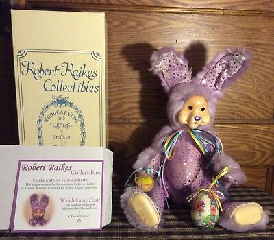 EXTREMELY RARE ROBERT RAIKES MOHAIR RABBIT WHICH CAME FIRST  #2/25 Hand Signed