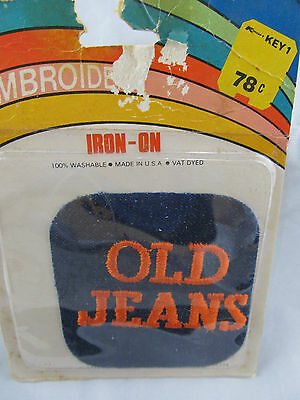 Vintage Embroidered Old Jeans Patch 1970's NIP Rainbow Novelty