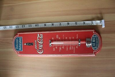 Coca cola wooden thermometer in French fahrenheit and celsius
