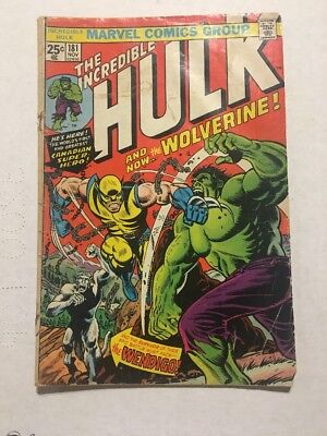 Incredible Hulk 181 No MVS 1st App Wolverine Cover Not Attached, See Pics