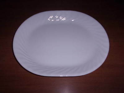 Beautiful Corelle Enhancements White Swirl Meat Serving Platter
