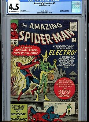 The Amazing Spider-Man #9 (Feb 1964, Marvel) CGC 4.5 1st appearance of Electro!