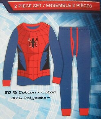 Ultimate Spider-Man Boys Thermal Underwear Marvel Comics Brand New Size 10-12 RD