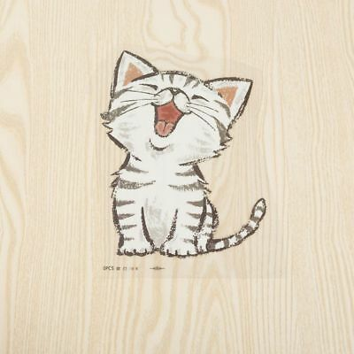 3pcs Kawaii Cat Heat Transfer Stickers Patches DIY Iron on Clothes Bags