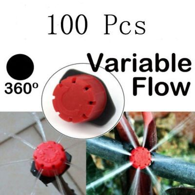 """50/100x Irrigation Sprinklers Watering Drippers Emitter Drip System On 1/4"""" Barb"""