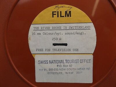16mm FILM GLISSANDO PLUS EXTRA FOOTAGE  - SWITZERLAND SWISS TOURISM 1970's