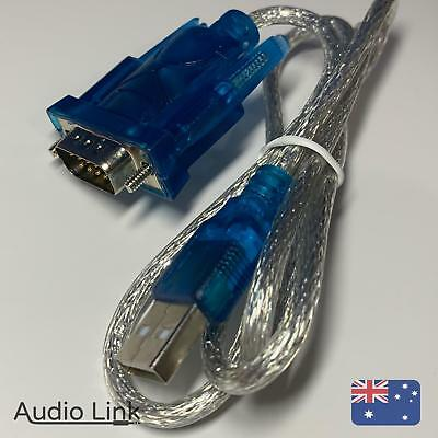 Serial RS232 Male to USB Cable Adapter DB9 9 Pin Converter Cord RS-232
