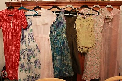 Vintage Clothing Lot 30s 40s 50s As Is Dresses Bathing Suit #1