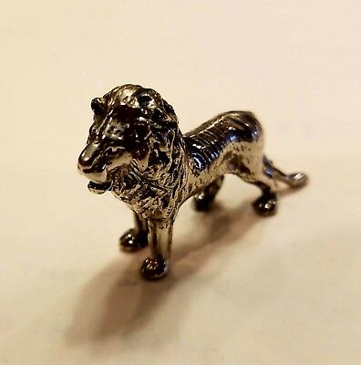 Sterling Silver Miniature Lion Figurine 925 stamped