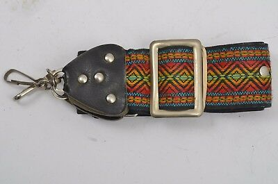Vintage Colorful Canvas Neck Srap, Good Condition