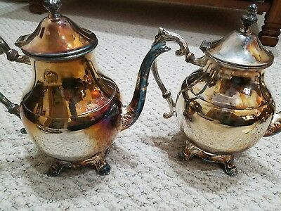 VINTAGE 1883 FB ROGERS SILVER CO SILVER PLATE Coffee/Tea POT