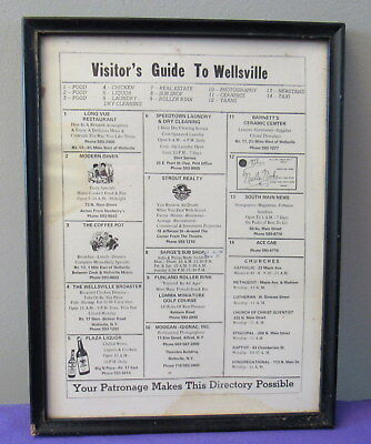 vintage visitor's guide to Wellsville, NY memorabilia relic Modern Diner