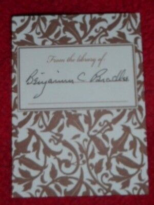 Benjamin C. Bradlee Watergate/Washington Post Signed/Autographed Bookplate