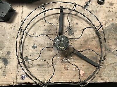 Antique Vintage GE Electric Fan Brass plated steel Cage 12 inch