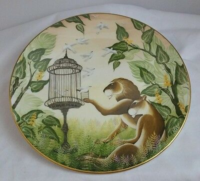 Plate NEAR MINT Jungle Fantasy Compassio Royal Doulton  Gustavo Novoa 1981