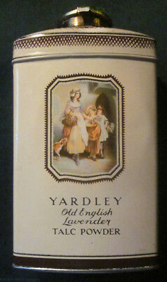 Vintage YARDLEY Old English Lavender TALC TIN - FULL NEVER USED