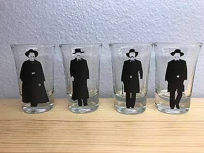 Tombstone (movie), Collectible Shot glasses, set of 4. NEW