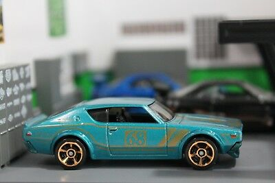 NEW Hot Wheels Nissan Skyline 2000GT-R Teal Green 1/64 Diecast Rare Collectible