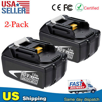 2Pack 18V 3.0Ah BL1830 Lithium-Ion Battery For MAKITA BL1815 BL1860 BL1845 Tools