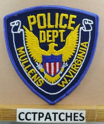 Mullens, West Virginia Police Stock Eagle Shoulder Patch Wv