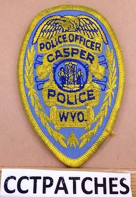 Casper, Wyoming Police Badge Shoulder Patch Wy