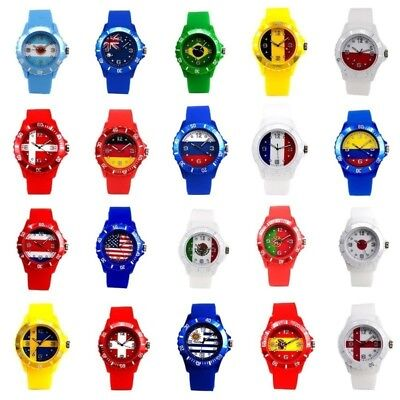 2018 Russia Football World Cup National Flag Silicone Wristwatch Soccer Fan