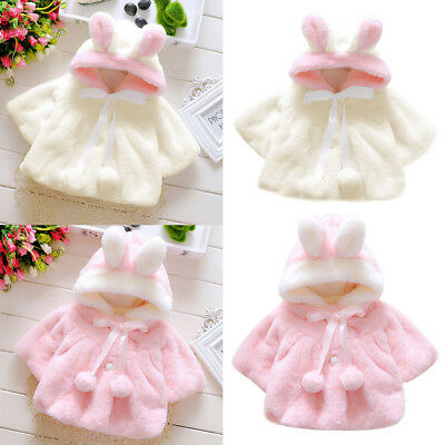 Infant Newborn Girl Winter Outerwear Hooded Coat Jacket Cloak Kids Clothes BGO