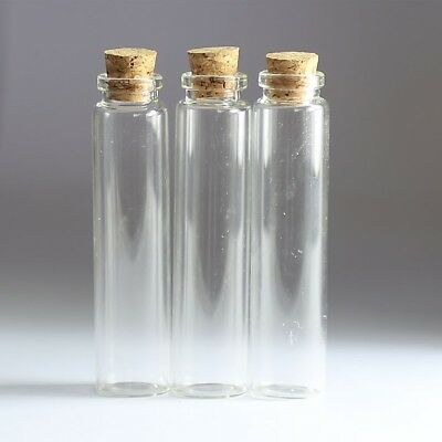 40ML & 5PCS Lot Empty Clear Cork Glass Bottles Vials With Corks Container