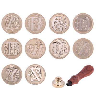 Vintage Wooden Handle Pattern Seal Wax Stamp For Wedding Invitation Letter Card