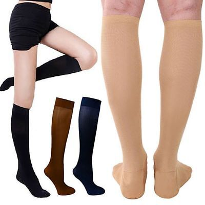 30-40 mmhg Compression Relief Knee Stockings Calf Leg Massage Support Socks AU