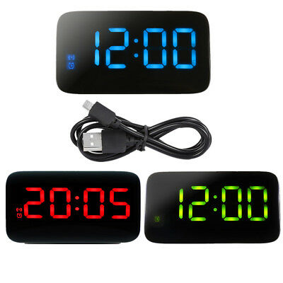 JUNJIADA Home LED Digital Alarm Clock Voice Control Time Display Bedroom JK-015