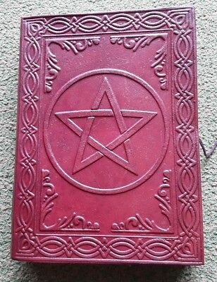 Pentagram Leather book BOS witchcraft pagan journal recycled paper 18cm Gypsy