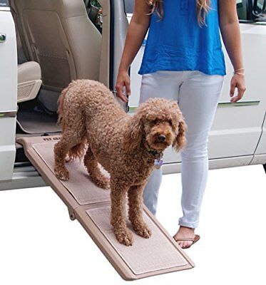 Pet Gear Travel Lite Bi-Fold Half Ramp with SupertraX for cats and dogs TAXFREE