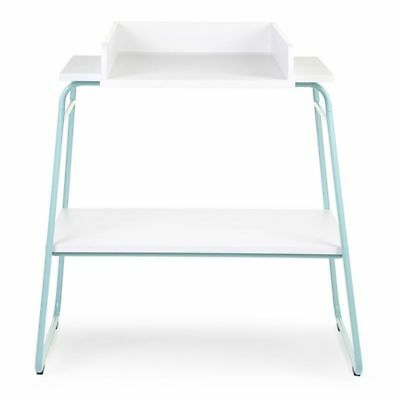 CHILDWOOD Baby Changing Table with Storage Shelf Wood Mint and White CHTIMB