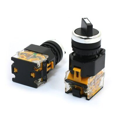 Ui 380V Ith 10A DPST 1NO 1NC 2 Position Rotary Selector Switch 2 Pcs