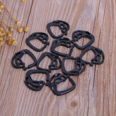 10 X Black Shade Net Clips Holder Fasten Shading System Hook Strong Button