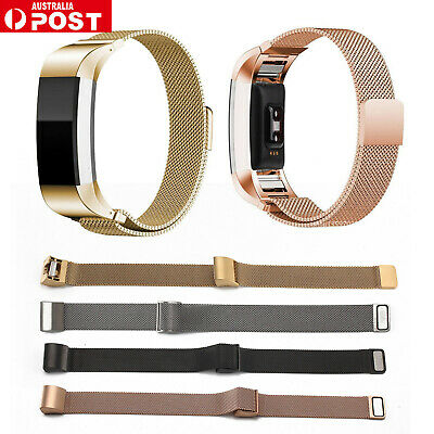 For Fitbit Charge 2 Band Stainless Steel Metal Milanese Loop Wristband strap