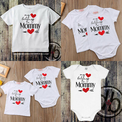 AU Family Matching Baby Kid Boy Girl Romper Bodysuit T-shirt Top Clothes Outfits