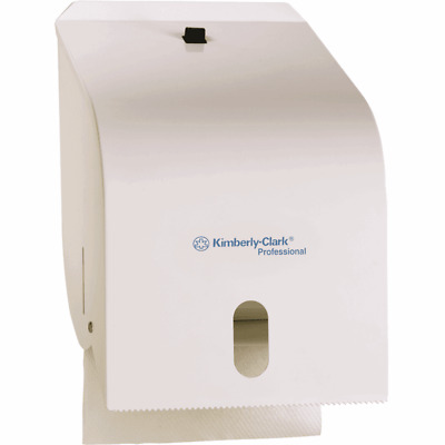 Kleenex ROLL TOWEL DISPENSER 200x310x190mm White Enamel, Easy To Load