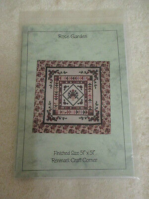 """*ROSE GARDEN QUILT finished size 51"""" x 51"""" Sewing Craft Pattern*BN"""