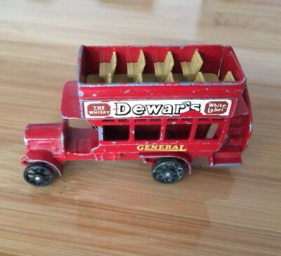 MATCHBOX No 2 'B' TYPE BUS 1912 - 1920 MADE IN ENGLAND BY LESNEY