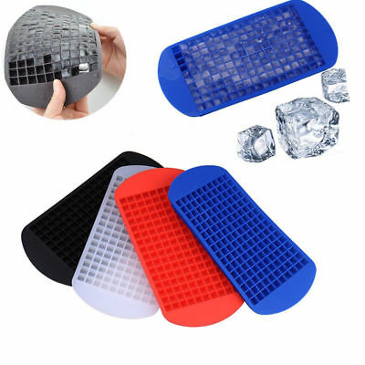 DIY 160 Grids Mini Small Ice Cube Tray Frozen Cubes Silicone Ice Maker Mold #sv