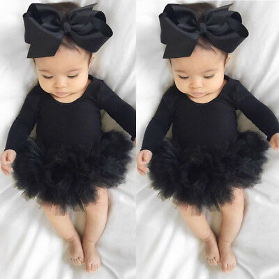 AU Stock Newborn Baby Girl Romper Jumpsuit Bodysuit Clothes Headband Outfit Sets
