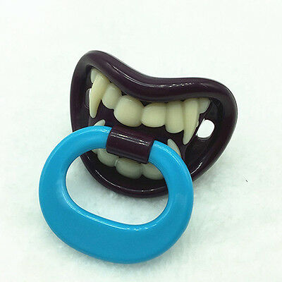 LC_ Baby Boy Girl Funny Novelty Dummy Baby Pacifier Vampire Tooth Nipple New T