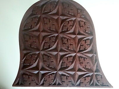 Carved Mahogany Book Stand/Rest Ecclesiastical/ Arts & Crafts.