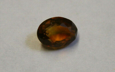 Natural  Madeira Red Citrine Loose Gemstone 6X8Mm Oval Faceted 1.3Ct Gem Ci24C
