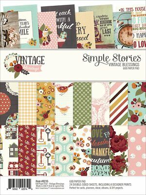 Simple Stories 9235 Vintage Blessings 6 x 8 Paper Pad