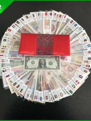 LOT 100 PCS different banknotes from 50 countries in the world/unc FREE SHIPPING