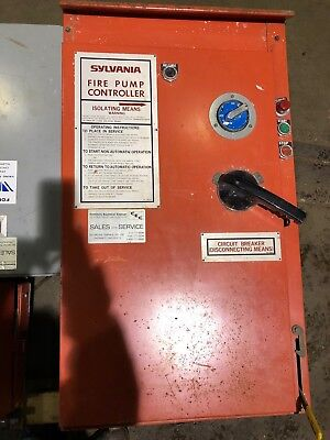 125 Hp Sylvania Fire Pump Controller w/ disconnect and low pressure cut off